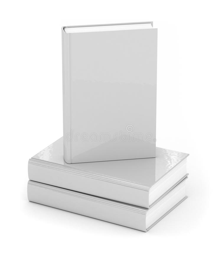 Books over white vector illustration