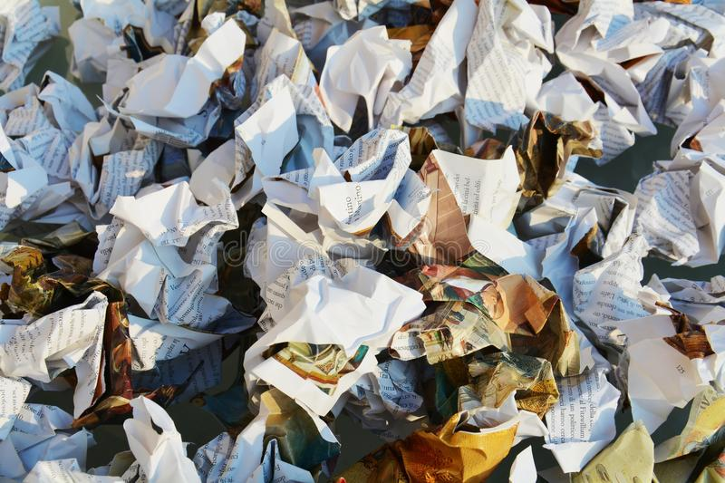 Books and pages. Paper trash, background stock image