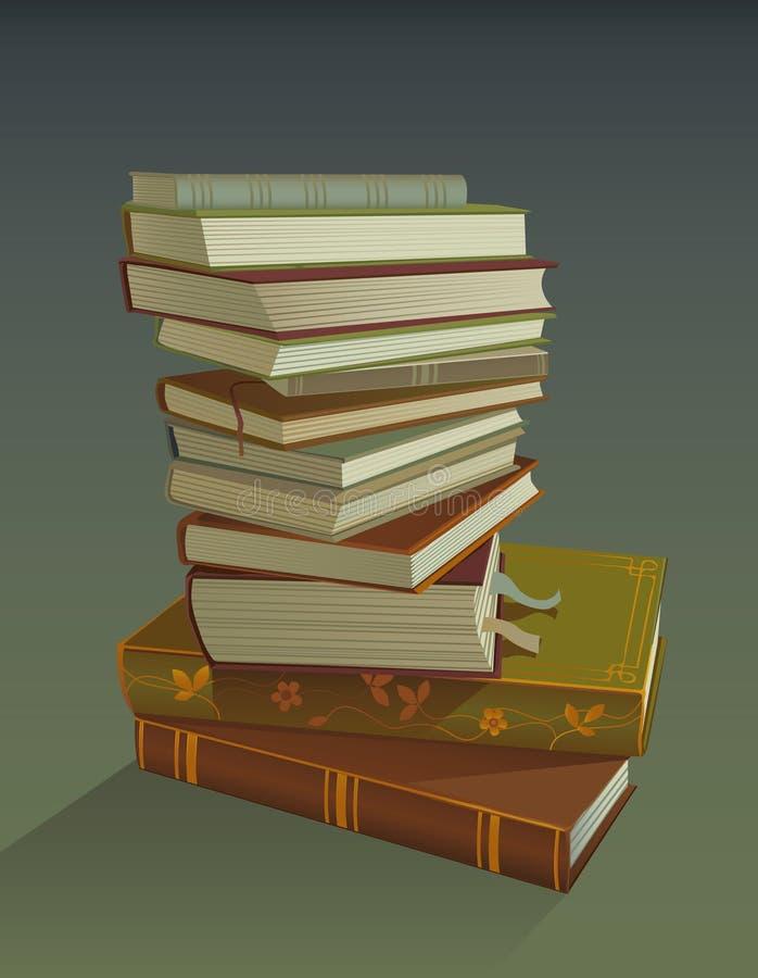 Books pile vector illustration