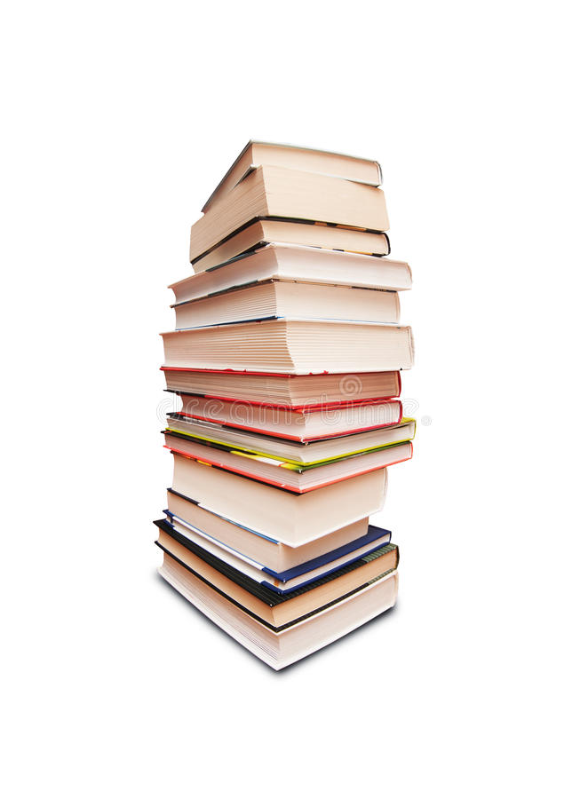 Books. A pile of class books stock image
