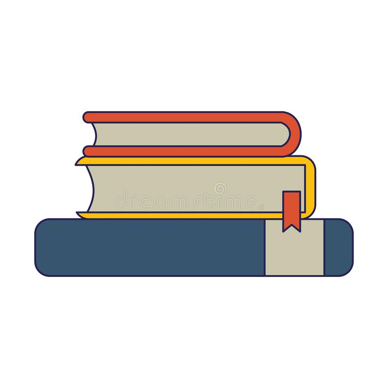 Books piled up. Education symbol vector illustration graphic design stock illustration
