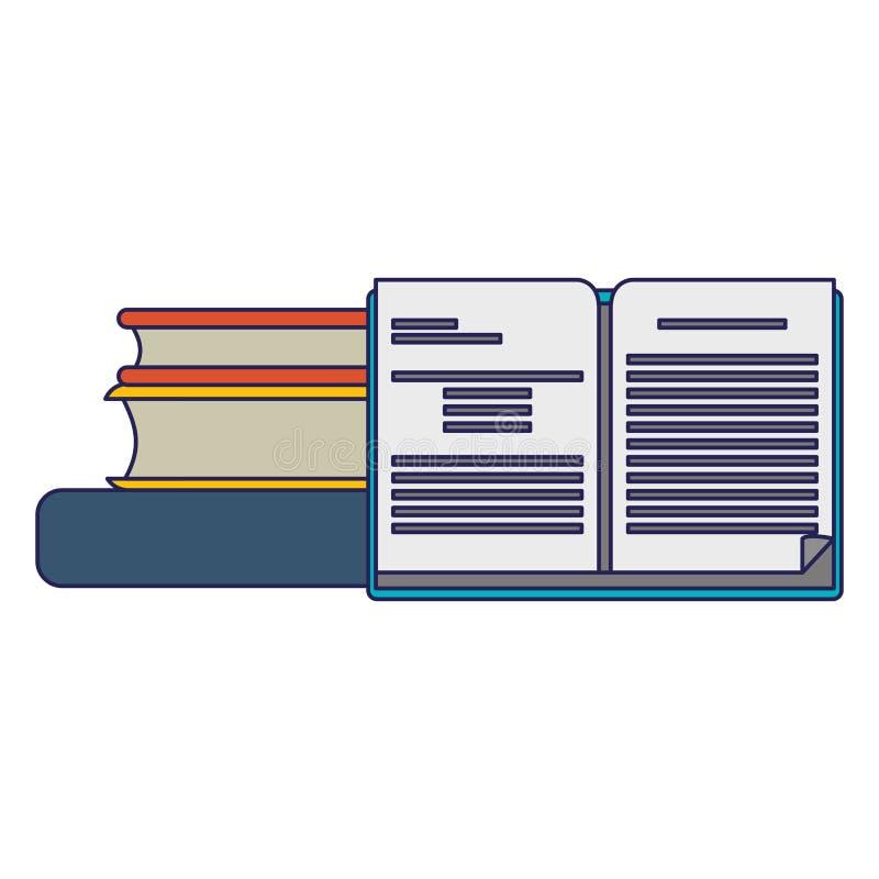 Books piled up. Education symbol vector illustration graphic design royalty free illustration