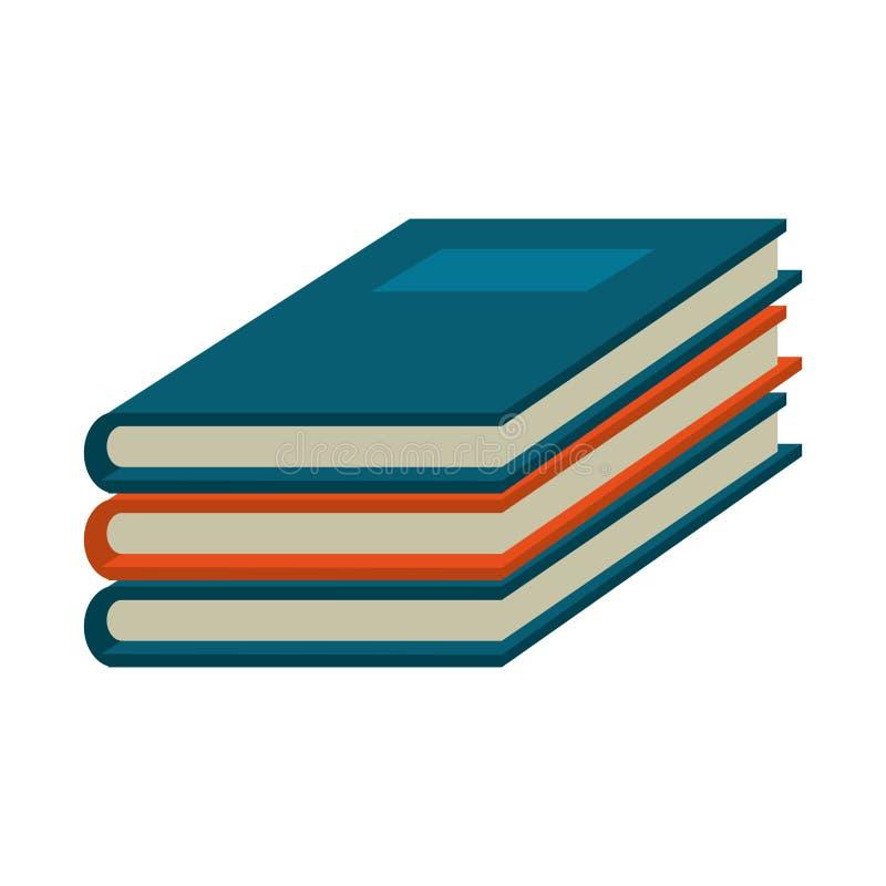 Books piled up symbol. Vector illustration graphic design royalty free illustration