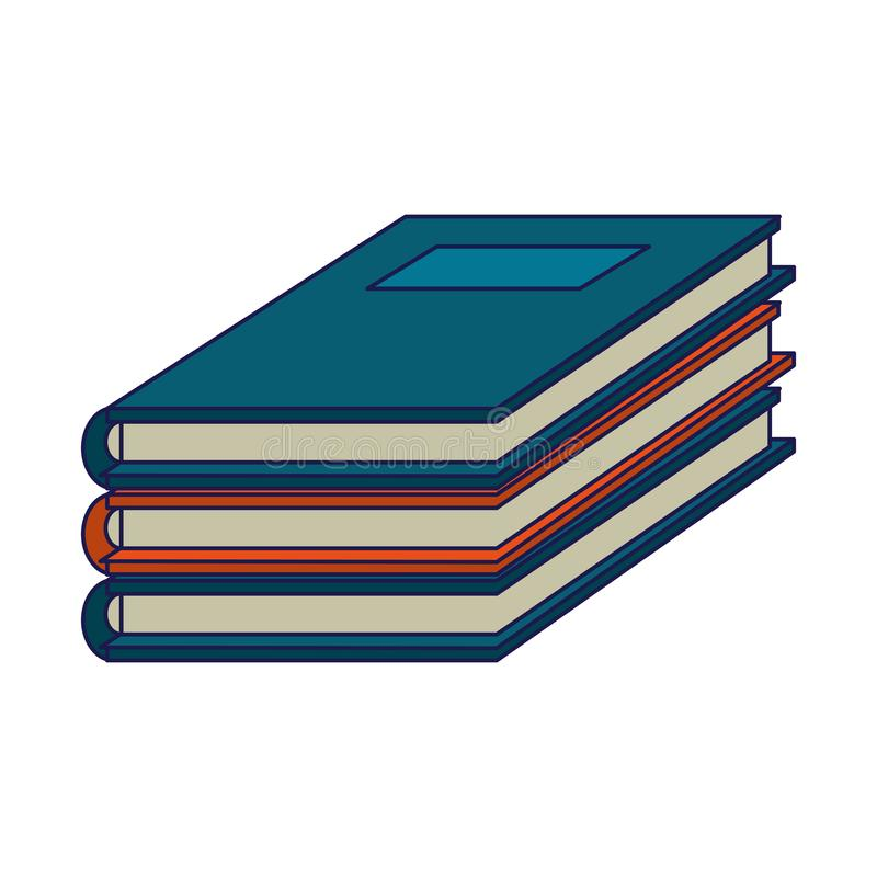 Books piled up symbol. Vector illustration graphic design vector illustration