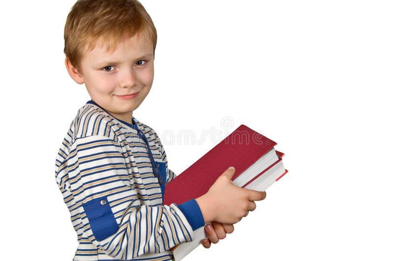 books pojken arkivfoto