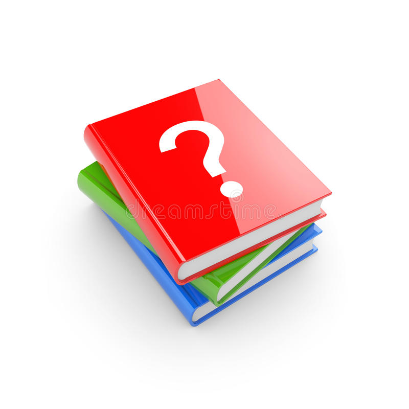 Download Books with question stock illustration. Image of group - 14862380