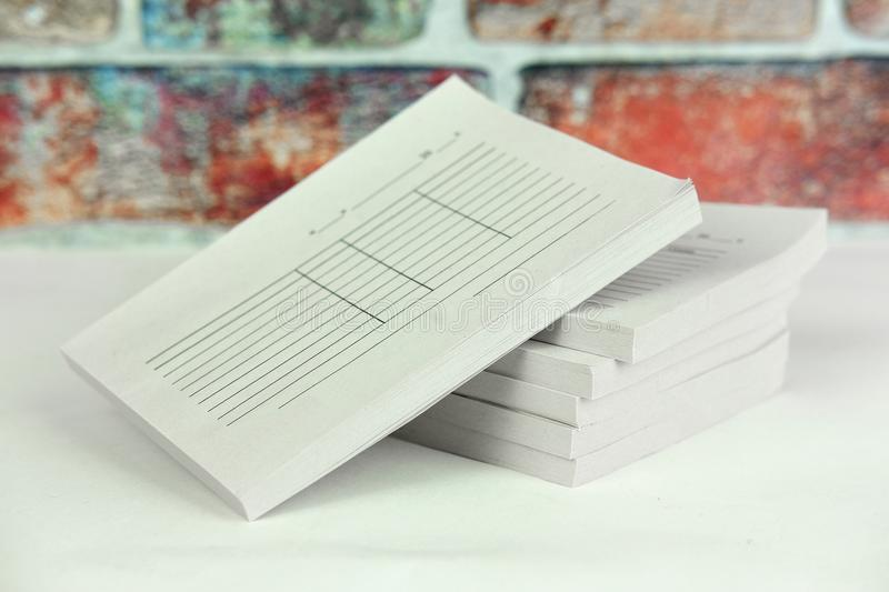 Books of the receipts stock image