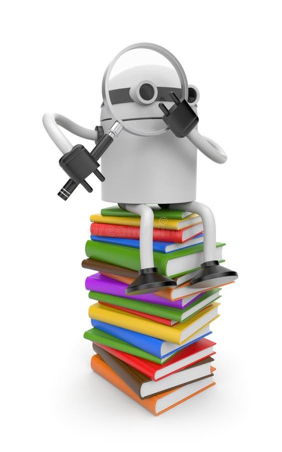 books roboten vektor illustrationer