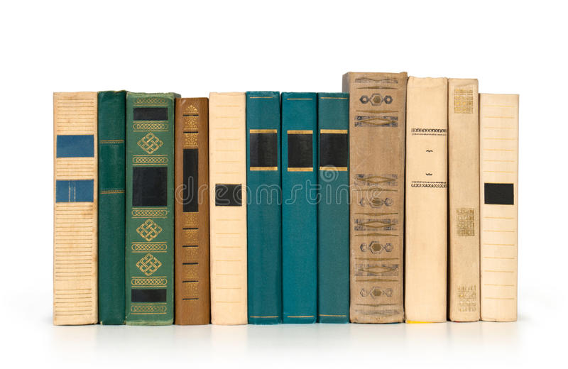 Books in a row, stock photography