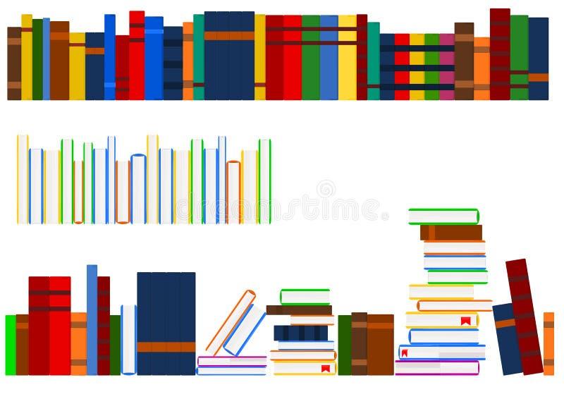 books serie stock illustrationer
