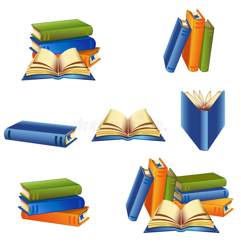 Books set stock image