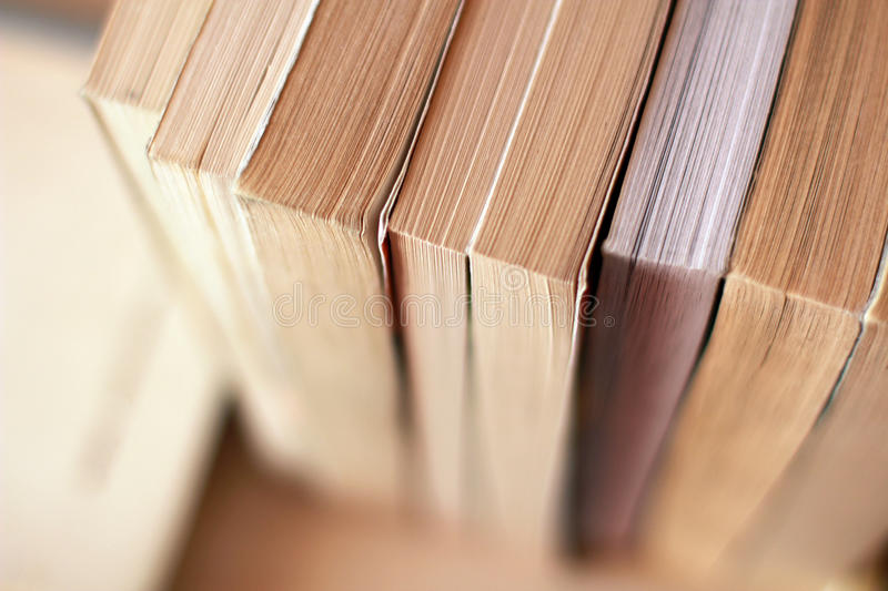 Books on the shelf royalty free stock images