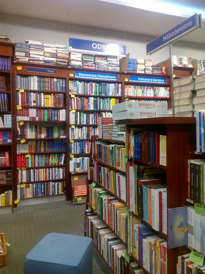 Books shelves stock photo