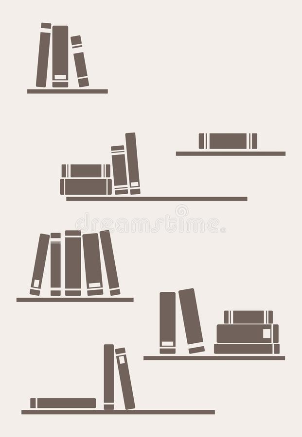 Books on the shelves - simply retro illustration vector illustration