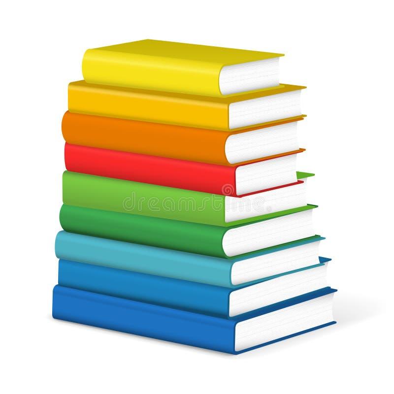 Books stack stock illustration