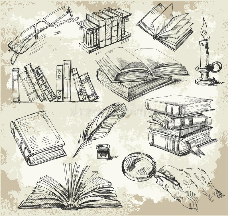 Books stack royalty free illustration