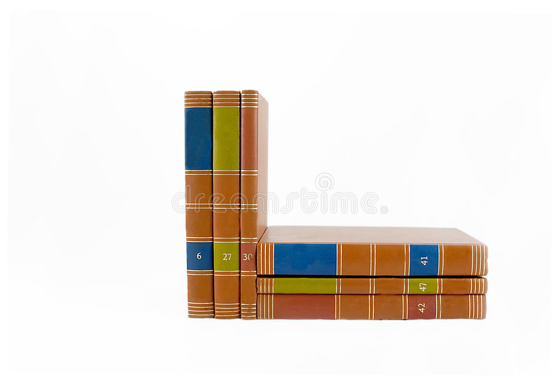 Books Stacked And Upright royalty free stock images