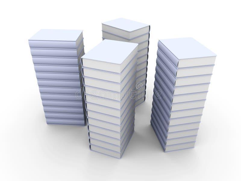 Download Books Stacks stock illustration. Illustration of blank - 10403400