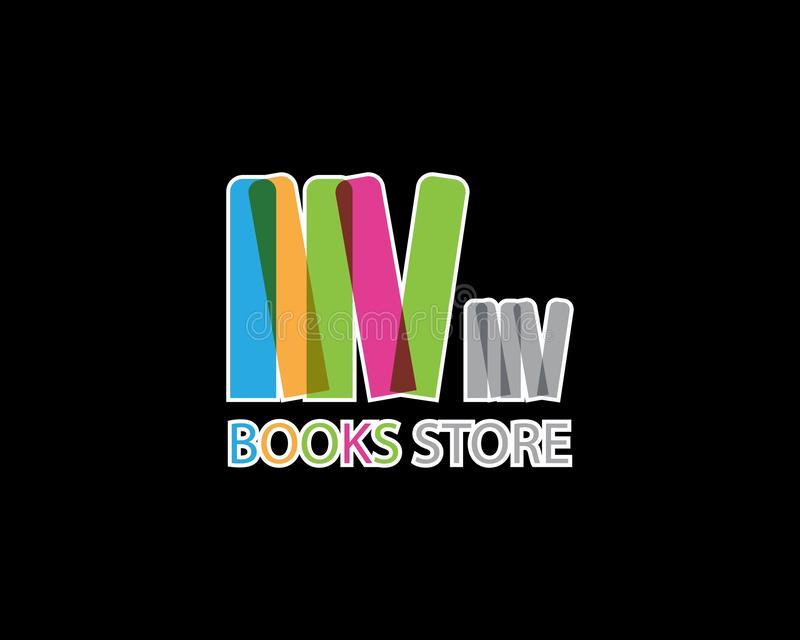 Books store icon and symbol template royalty free illustration