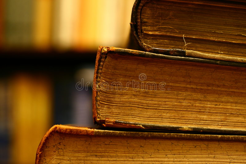 Books on a table stock photography