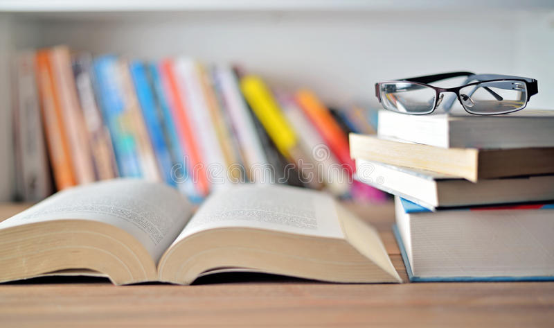Books on table stock image