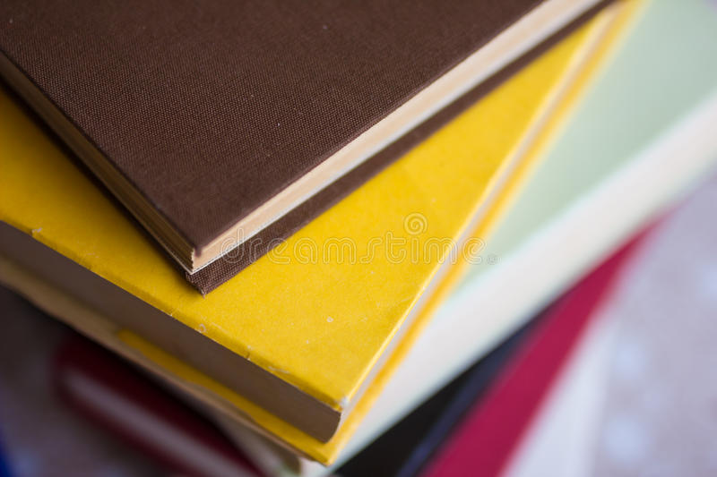 Books and textbook royalty free stock photo