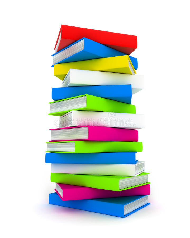 Download Books tower stock illustration. Image of book, knowledge - 21515561