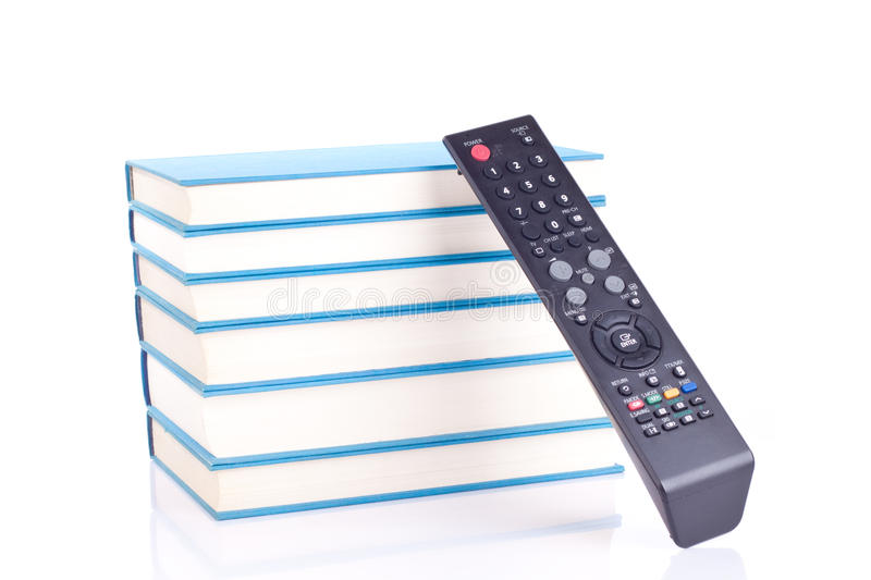 Books or tv?! royalty free stock photos