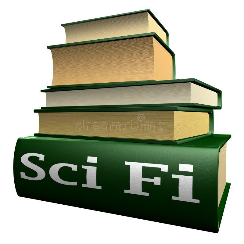 books utbildningsfi-sci stock illustrationer