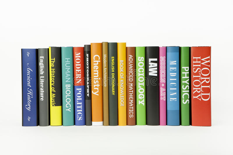 Books - various subjects stock photos