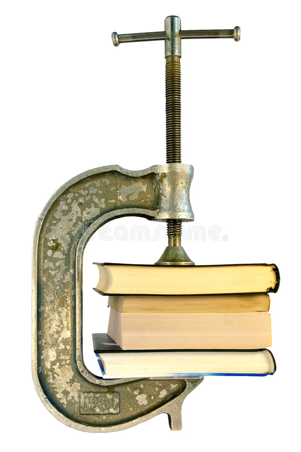 Download Books In A Vice-archiving Information Stock Photo - Image: 1082480