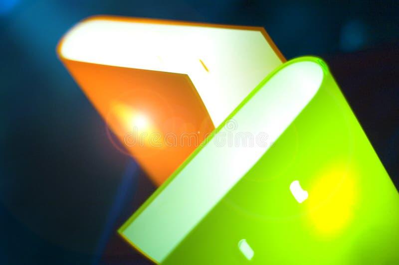 bookshaped lampor arkivfoton