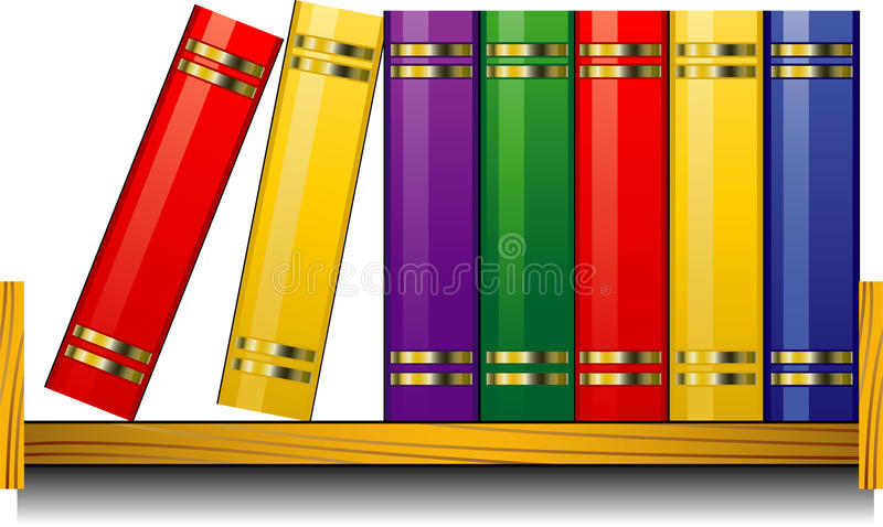 Download Bookshelf stock vector. Illustration of studying, graphic - 15650245