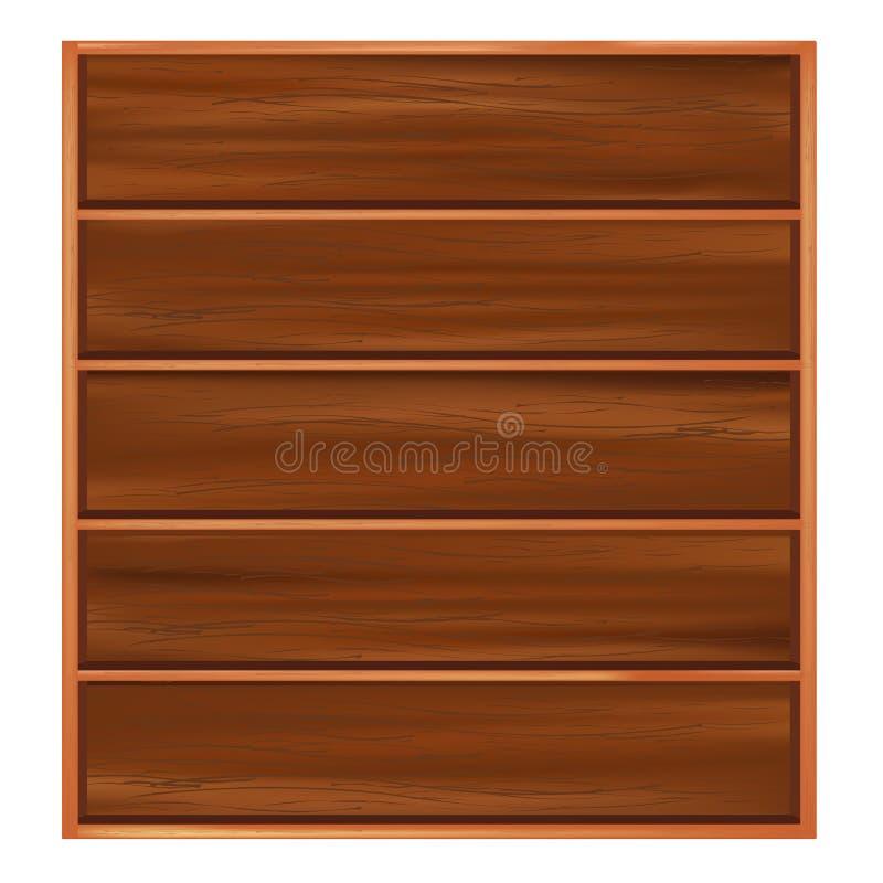 Download Bookshelf stock vector. Image of office, design, expensive - 18315712