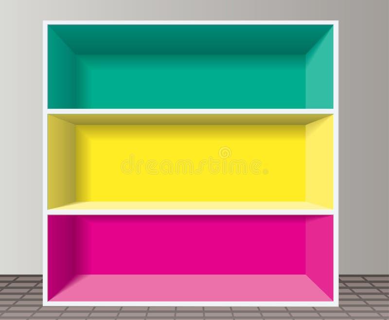 Download Bookshelf stock vector. Image of office, design, simplicity - 19281141