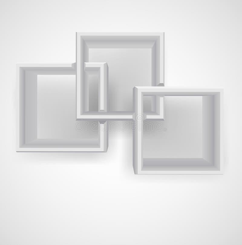Download Bookshelf stock vector. Illustration of brown, mimimalist - 24032009
