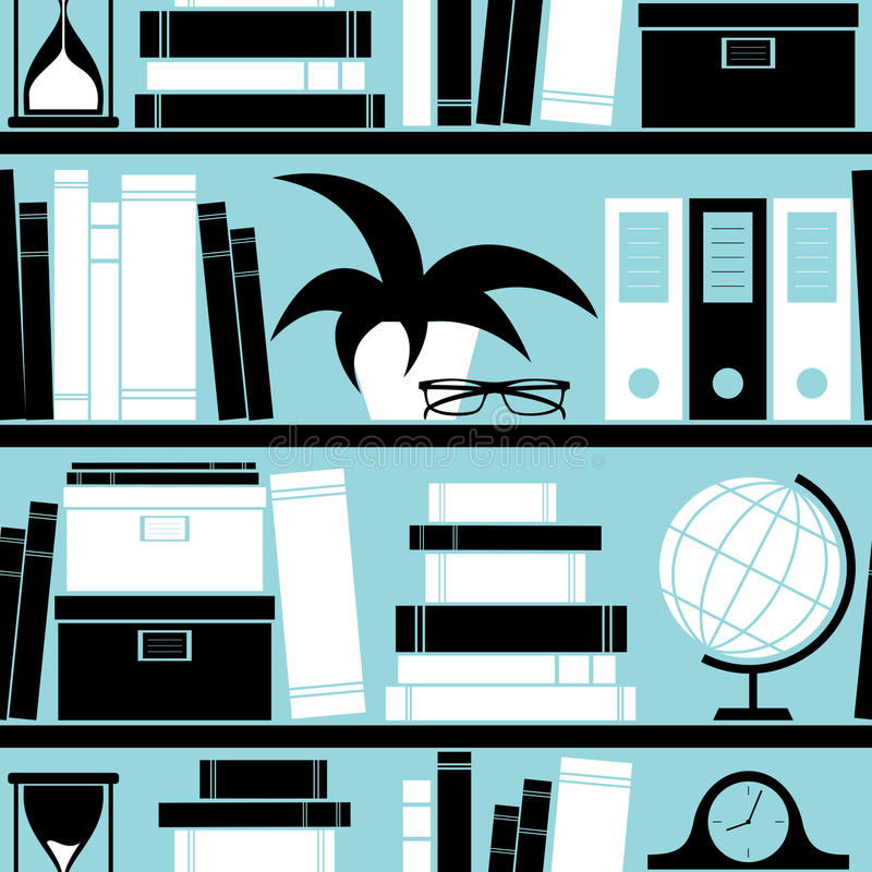 Bookshelf Background stock illustration