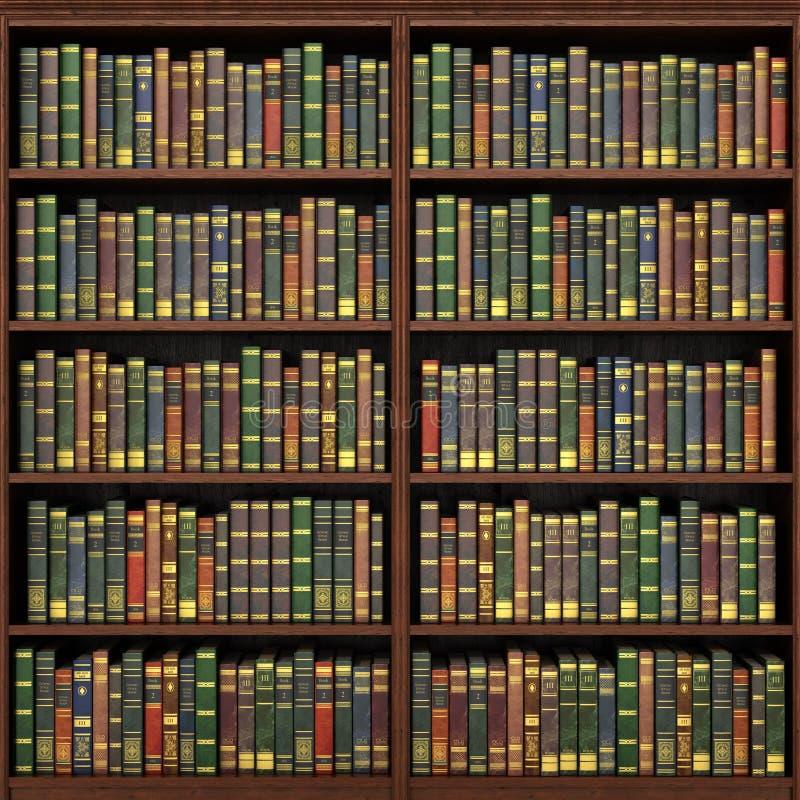 Bookshelf full of books background. royalty free stock image