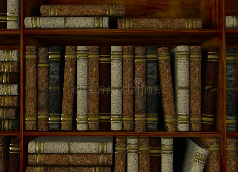 Download Bookshelf in library stock illustration. Illustration of space - 20605825