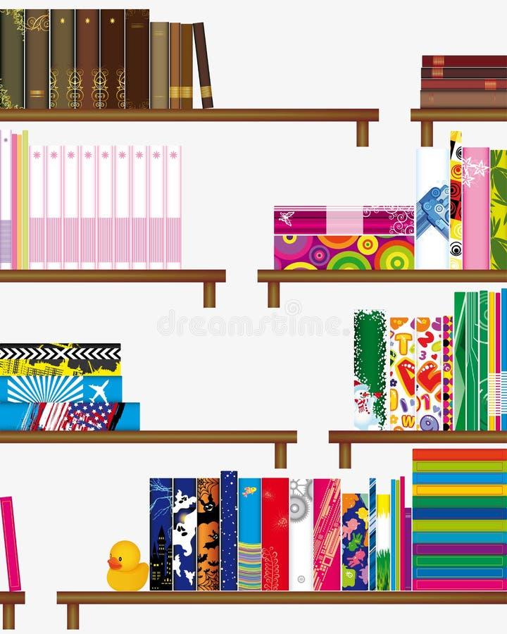 Bookshelf seamless background royalty free illustration
