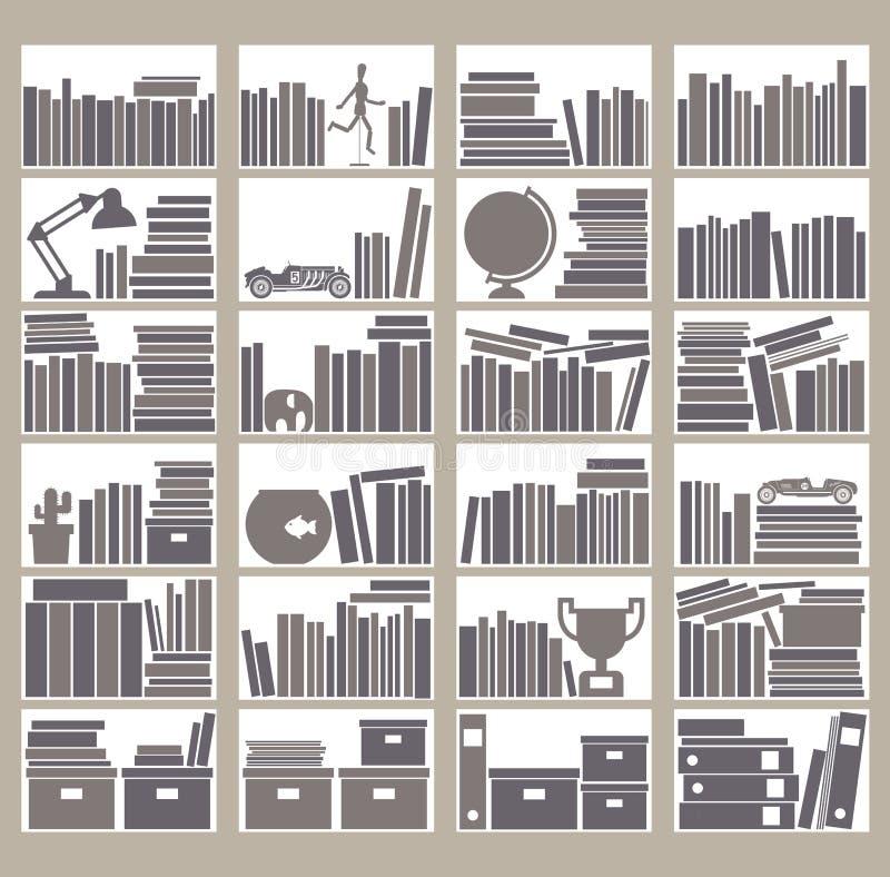 Bookshelfs stock illustration