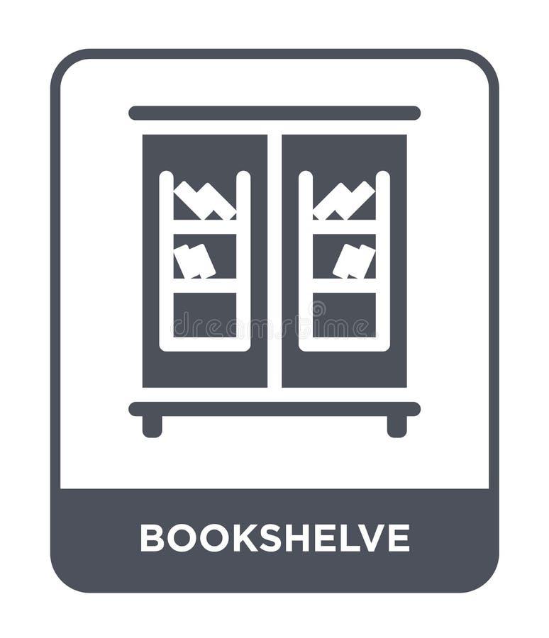 bookshelve ikona w modnym projekta stylu bookshelve ikona odizolowywająca na białym tle bookshelve wektorowa ikona prosta i nowoż ilustracja wektor