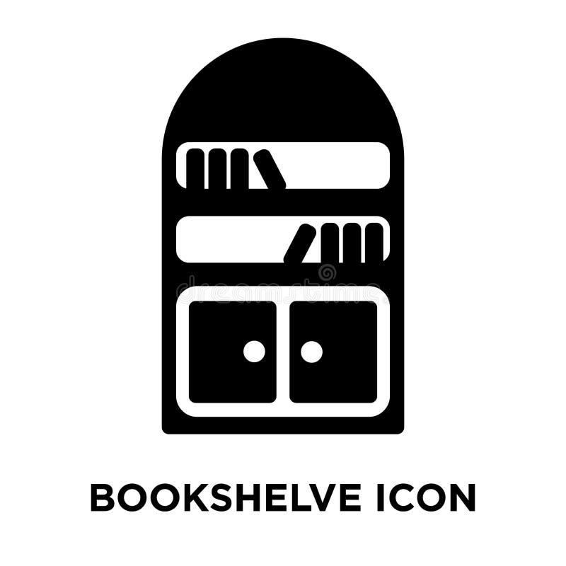 Bookshelve ikony wektor odizolowywający na białym tle, loga concep ilustracja wektor