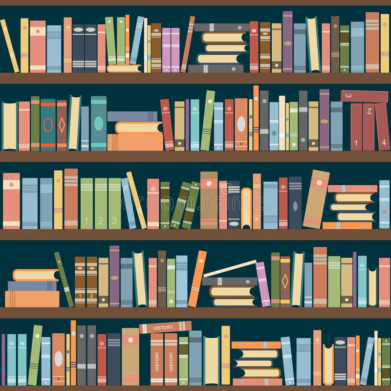Bookshelves vector illustration