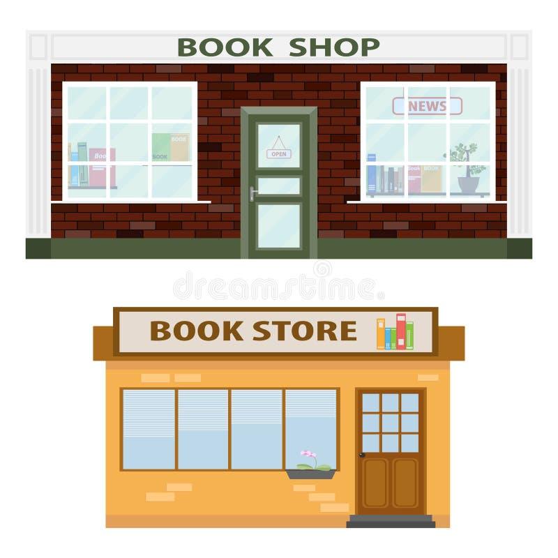Bookshop. Icon. Flat design, vector illustration, vector