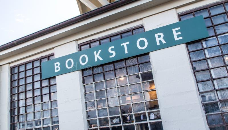 Bookstore at Alcatraz Island. USA.5 stock photo