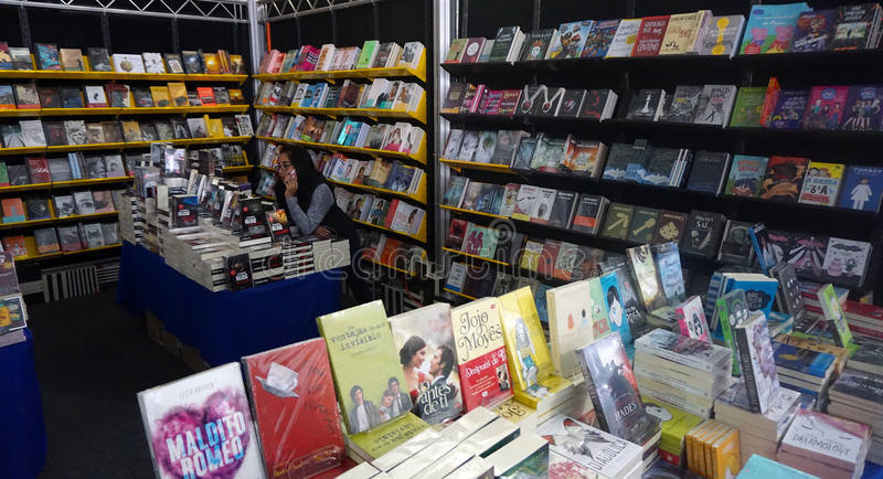 Bookstore. A bookstore in a local fair in mexico, big mobile store with many books, novels and child books, magazines and books selling in a fair royalty free stock photography