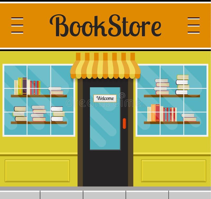 Bookstore budynku fasada lub przód ilustracji