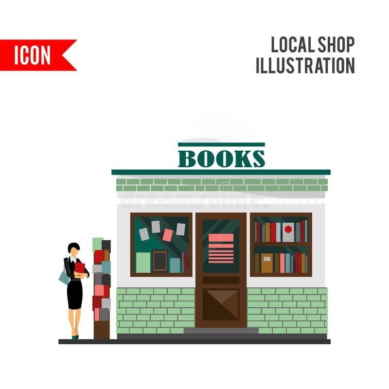 bookstore centrum handlowe Książka sklepowy budynek ilustracja wektor