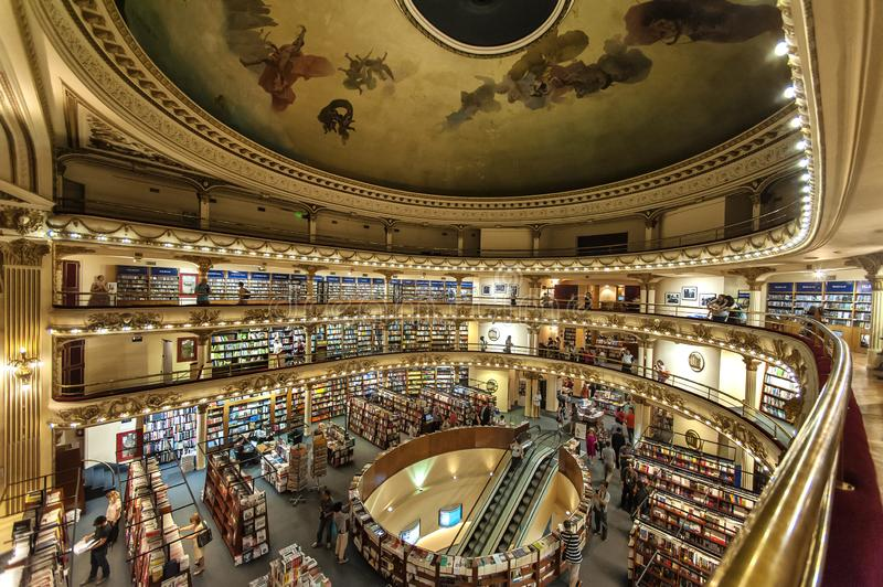 Bookstore El Ateneo, Buenos Aires, Argentina royalty free stock images